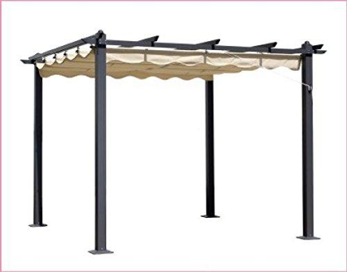 Gazebo mod. oasi 3x4 mt. palo in alluminio 90x90 cm telo polyestere 180 gr.