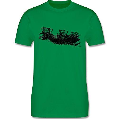 Landwirt - Traktoren Wiese - Herren Premium T-Shirt Grün