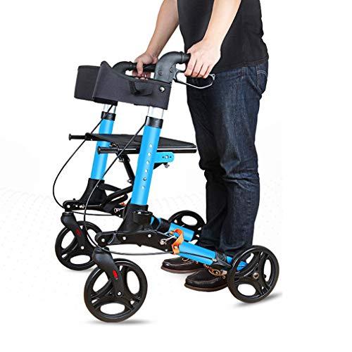 EGCLJ 4 Rad Rolling Walker Mit Sitz Und Tasche - Senioren Rollator Walker - Walker Einkaufswagen - Mobilitätshilfe Für Erwachsene, Senioren, Senioren