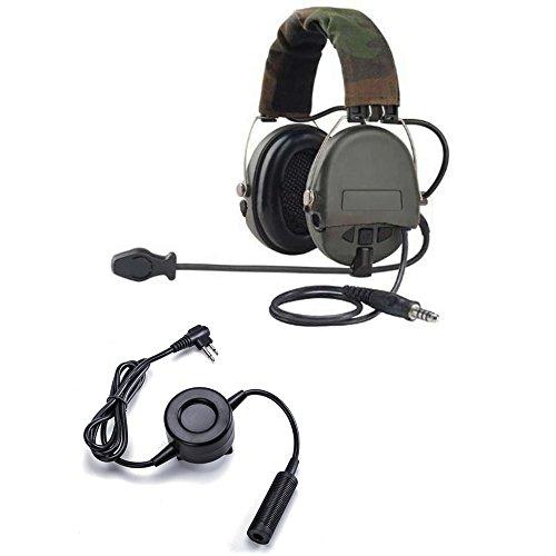 Militare automaticamente Noise Cancelling Overhead Headset con microfono e  resistente per Motorala PTT 2 pin radio 78a1c74efc92