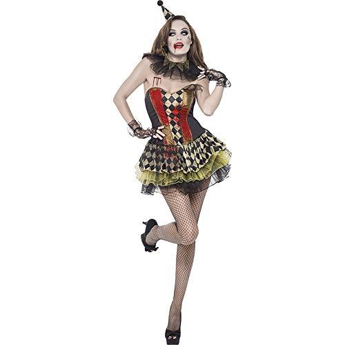 Paofu-costume da arlecchino da clown raccapricciante da donna,abito da festa cosplay di halloween,costumi per adulti mascherata,nero,onesize