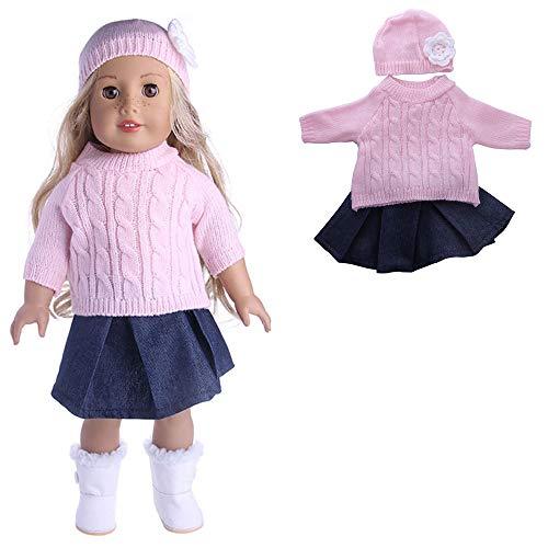 Luxury-uk In Verschiedenen Arten verwendet Puppenkleider, Pullover Cap Jeans Kleid Mantel Puppe Set Puppe Kleidung für 18 Zoll American Girls Dolls Puppe Zubehör (American Girl Puppe Verwendet)