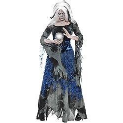 Smiffys Disfraz de adivina pecaminosa, con Vestido y sobrevestido