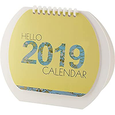 SMAQZ Calendario De Escritorio Nuevo Y Fresco Decoración De Escritorio Creativa Calendario En Forma De Tambor Flip de SMAQZ
