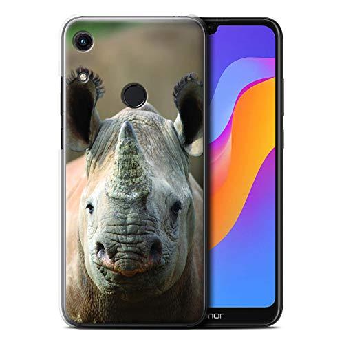 Hülle Für Huawei Honor 8A/Play Wilde Tiere Nashorn Design Transparent Ultra Dünn Klar Hart Schutz Handyhülle Case