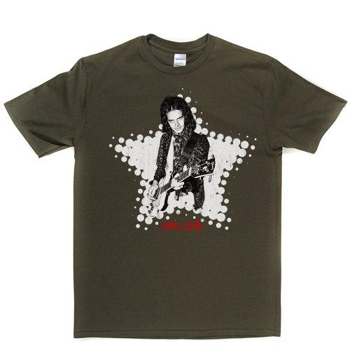 Jim Lea English Musician T-shirt Militärgrün