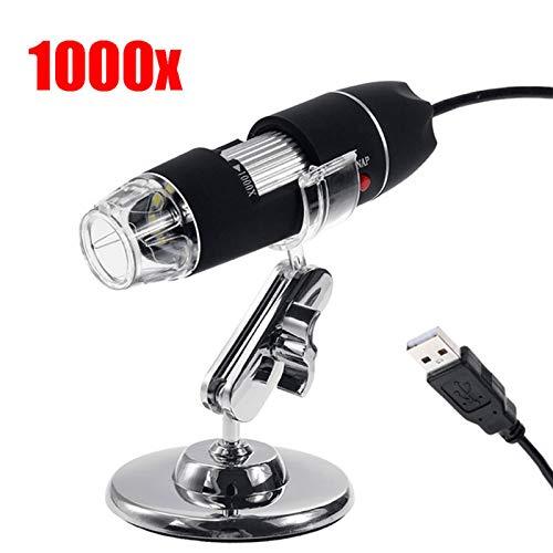 DJG 1600X Megapixel, USB-Mikroskop 1000X 5000X Digital-Mikroskop-Kamera 8LED Lupe Endoskop für Android MAC Fenster,1000x