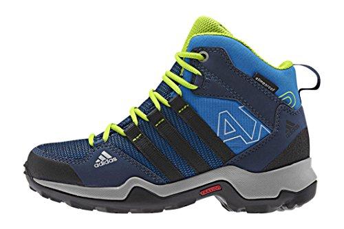 adidas Ax2 Mid Cp, Chaussures de Randonnée Hautes Mixte Enfant Bleu - Blau (Shock Blue S16/Core Black/Semi Solar Slime)