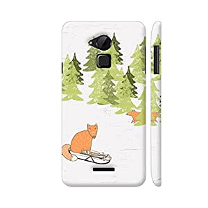 Colorpur Fox Animal Cute Watercolor Winter Designer Mobile Phone Case Back Cover For Coolpad Note 3 / Note 3 Plus | Artist: UtART