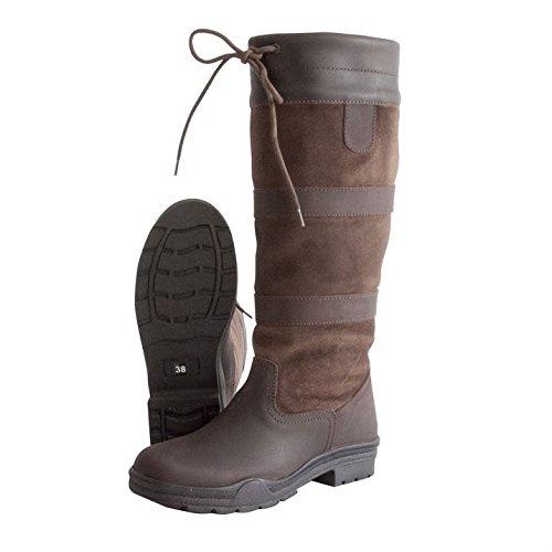 Requisite Granger Bottes d'équitation à lacets pour femmes Chaussures de campagne Marron - marron
