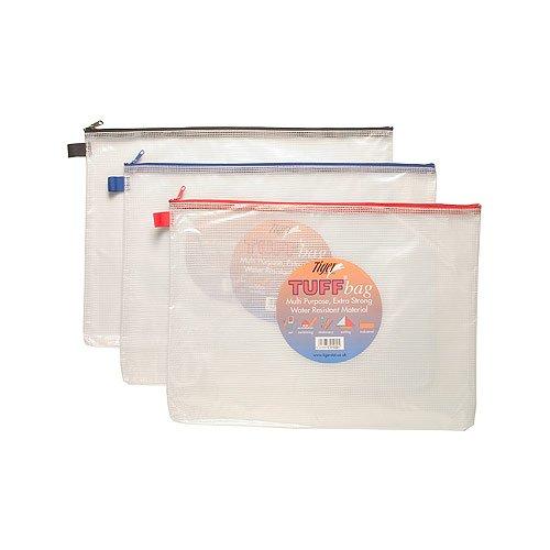 SG Bildung TS 301022Tuff Tasche, A3+ Größe, transparent, 500Mikrofon mit Reißverschluss
