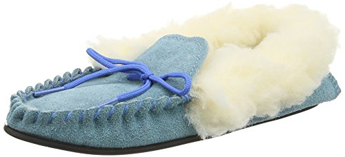 Spot OnSuedemocc - Pantofole donna, colore blu (blue), taglia 40 EU (7 UK)