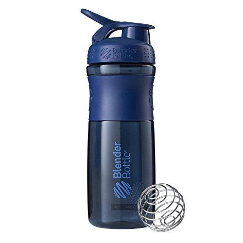BlenderBottle Sportmixer Tritan Shaker | Protein Shaker | Wasserflasche | Diät shaker Navy (820ml)