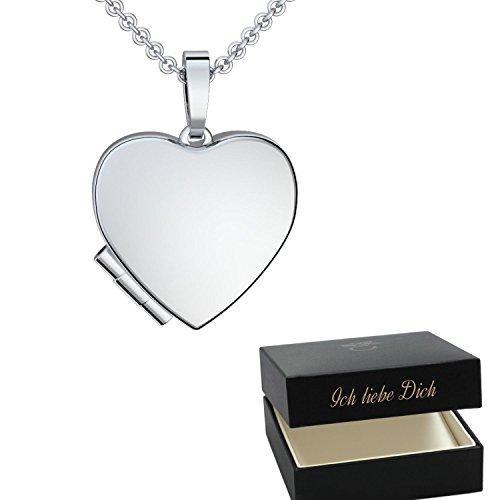 ke für Freundin Valentinstag Ideen Herzkette Silber 925 Herzanhänger Geschenke für Frauen Sie Verliebte *GRATIS Luxusetui* mit Gravur Ich liebe Dich Geschenke FF295SS92545 (Halloween-deko-ideen Billig)