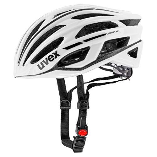 uvex Unisex- Erwachsene, race 5 classic Fahrradhelm, white, 55-58 cm