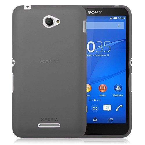TBOC® Schwarz Gel TPU Hülle für Sony Xperia E4 E2104 E2105 Ultradünn Flexibel Silikonhülle