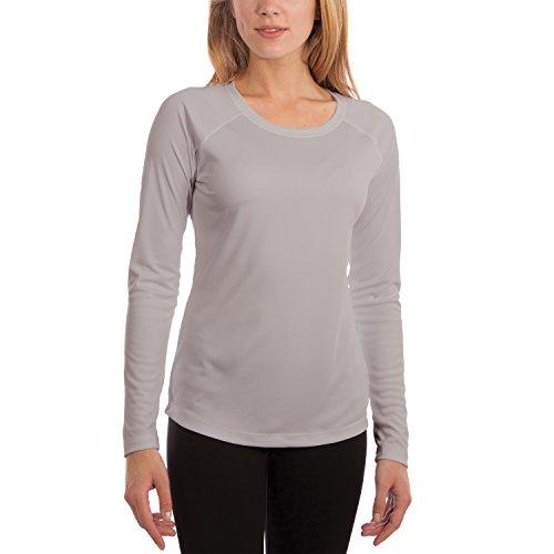 Vapor Apparel Damen UPF 50+ UV Sonnenschutz Langarm Performance T-Shirt X-L Perlgrau
