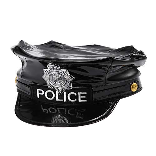 Hat Offizier Kostüm - Polizeihut Cop Hut Captain Hat Offizier Hut Polizei Cosplay Halloween Party Zubehör Bühne Performance Militär Caps - (schwarz)