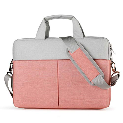 Pink Taschen (Männer Und Frauen Laptop-Tasche Diagonal Business Dokument Aktentasche Handtasche Wasserdicht Stoßfest Tragbare Tablet-Tasche Laptop-Tasche 13,3 / 14 / 15,6 Zoll ( Color : Pink , Size : 15-15.6inch ))