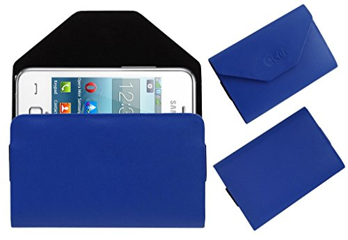Acm Premium Pouch Case For Samsung Rex 80 S5222r S5222 Flip Flap Cover Holder Blue  available at amazon for Rs.179