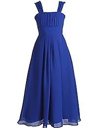 Fashion Plaza Chiffon Mädchen Kleid A-line Blumenmädchenkleid K0079