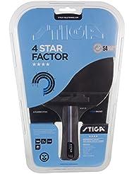 Stiga 4-Star Factor, Concave Racchetta da Ping Pong, Nero/Rosso, Taglia Unica