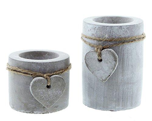 moderner-teelichthalter-stone-heart-im-2er-set-in-angesagter-beton-optik