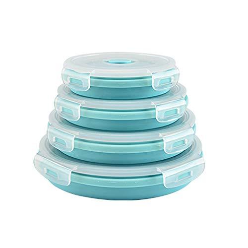 Kimmyer (4 - er Packung, silikon - tuben Essen Container - Mittagessen im freien, geschirrspüler, kühlschrank, mikrowelle, ofen, tragbare Container sicher unterschiedliche größe