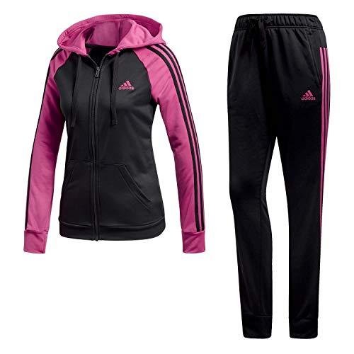 adidas Re-FFocus TS Trainingsanzug, Damen, Damen, CY3517_2XS, schwarz (real Magenta f18), XXS