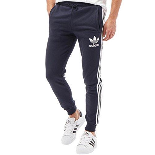 Adidas Originals Mens California 3 stripe Cuffed Tracksuit Pants (Small, Waist 30