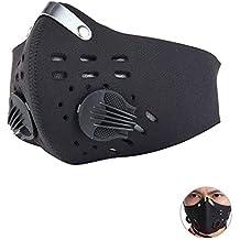 KOBWA - Máscara Antipolvo de carbón Activado con Filtro Extra de algodón y válvulas para Gas