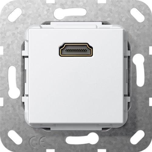 Gira 566903 HDMI Gender Changer Einsatz, reinweiß