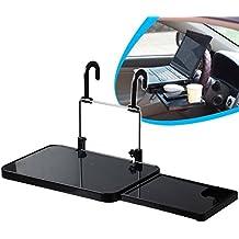 anzer viaje Multi bandeja, mesa/escritorio & Cup Holder, Soporte de coche portátil plegable coche portátil/comer volante coche para ordenador de escritorio con cajones