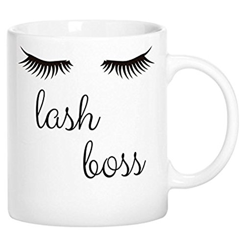 zmvise Lash Boss Fashion Zitate weiß Keramik Tasse Perfect Christmas Halloween Gfit
