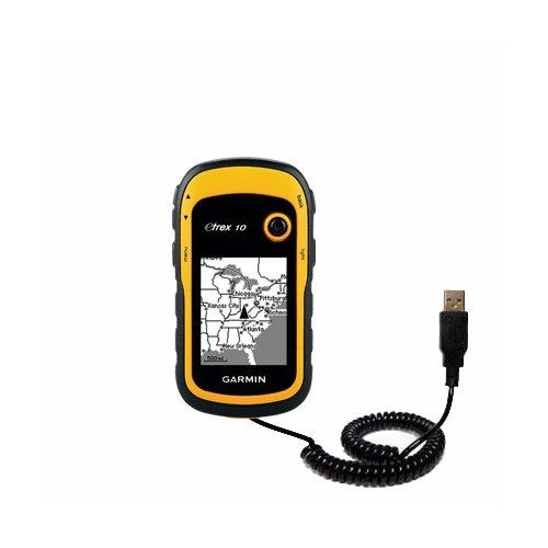 Speciale Cavo USB a Spirale per Sincronizzazione Dati e Caricamento compatibile con Garmin etrex 10 20 30 Realizzato con TipExchange