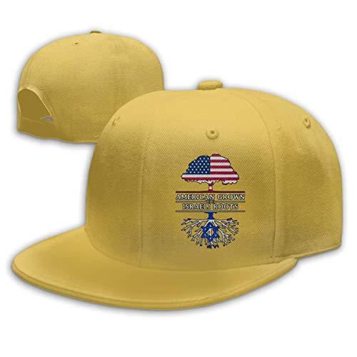 DAIAII Herren Baseball Caps,Hüte, Mützen, Classic Baseball Cap, American Grown with Israeli Roots Mens Womens Adjustable Plain Baseball Cap Dad Hat