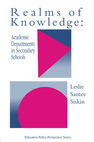 Realms Of Knowledge: Academic Departments In Secondary Schools (Education Policy Perspectives) (English Edition) -