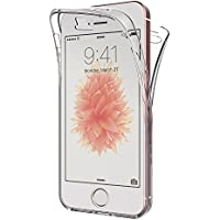 Funda iPhone SE, AICEK Transparente Silicona 360°Full Body Fundas para iPhone SE Carcasa Silicona Funda Case (4,0 Pulgadas)
