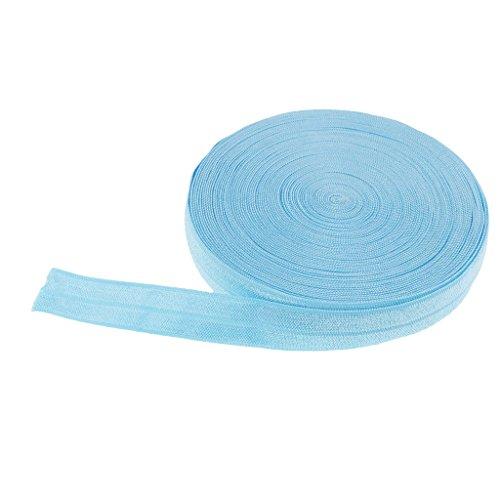 perfk Spandex Flach Gummiband Stretch elastische Bänder zum Nähen DIY Handwerk aus Baumwolle - blauer See, 10 Meter