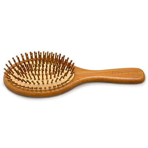 Bambus Haarbürste ✮ Zero Waste ✮ Plastikfrei ✮ 100% Vegan ✮ Nachhaltig ✮ Naturborsten aus Bambus ✮ Antistatisch ECOMONKEY® - 2