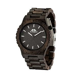 orologio uomo in materiale di sandalo Materiale Movimento al quarzo Giappone Display analogico con diametro di caso da 44mm per le vendite