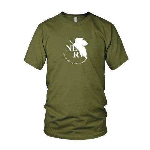 Planet Nerd - Neon Genesis Evangelion - Nerv Logo - Herren T-Shirt Oliv