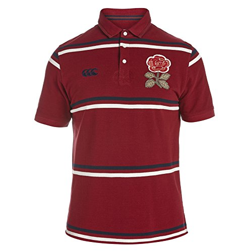England 1871 Limited Edition Vintage S/S Stripe Polo - size S