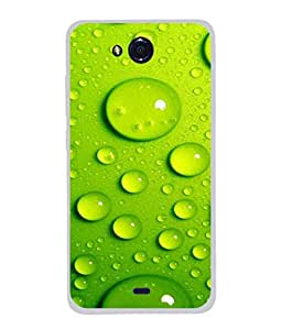 Fuson Designer Back Case Cover for Micromax Canvas Play Q355 (Droplets Liquid Green Boy Girl Student Employee)