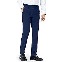 FIND Pantalón de Traje Entallado para Hombre, Azul (Navy 200), W38/L32 (Talla del fabricante: W38) (Talla del fabricante: 38)