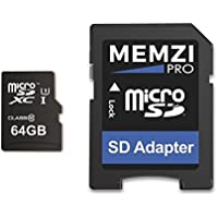 MEMZI 64GB Micro SDXC Memory Card for GoPro Action Cameras - High Speed Class 10 95MB/s Read 60MB/s Write UHS-I Class 3 4K 2K 3D Full HD Recording with SD Adapter