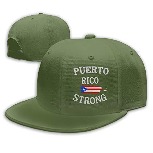 Abigails Home Puerto Rico Distressed Flag Einstellbare Baseballmütze Hip-Hop-Hut Herren Sport Moosgrün Abigail Caps