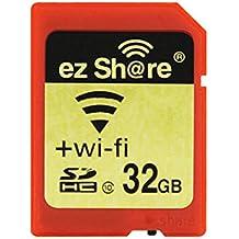 Ez Share SDHC Wifi Tarjeta de Memoria SD de 32 GB, Clase 10 Wireless LAN Inalámbrico para Cámara DSLR Móvil Inteligente iPhone iPad Ordenador Tableta