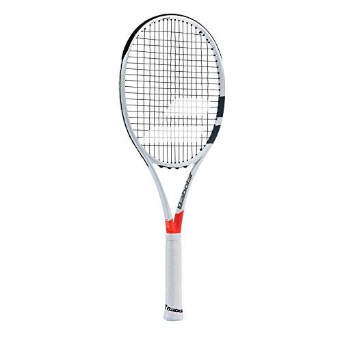 Babolat Pure Strike 18/20 Strung Raqueta de Tenis, Unisex Adulto, Blanco/Rojo, 4