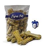 Lyra Pet 50 Kauknochen ca. 12 cm ca. 50 g Rinderhaut Snack Zahnpflege + Geschenk